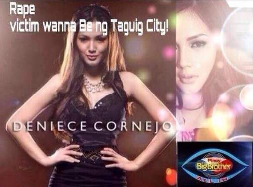 deniece cornejo rape victim wanna be ng taguig