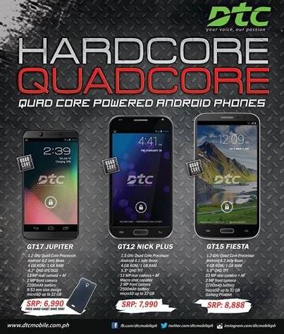 dtc quadcore android phone