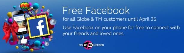 free facebook for globe and tm subscribers