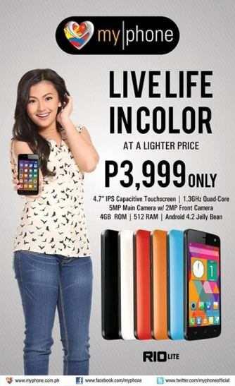 myphone rio lite price