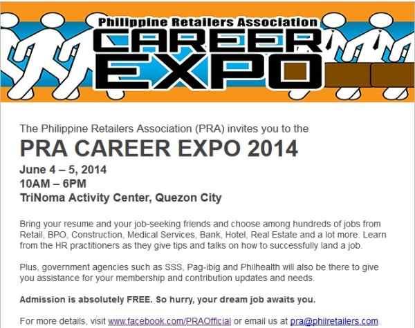 PRA trinoma Job fair 2014