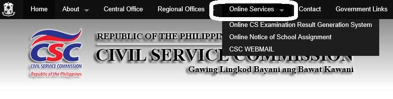 how to check civil service exam rating