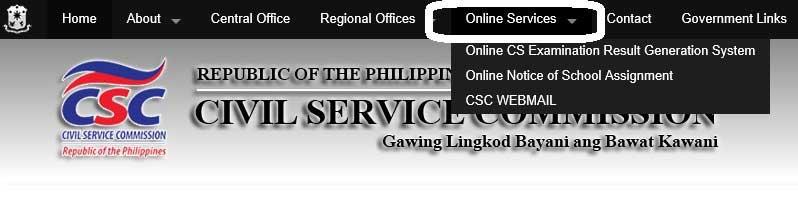 Philippines civil service exam rating