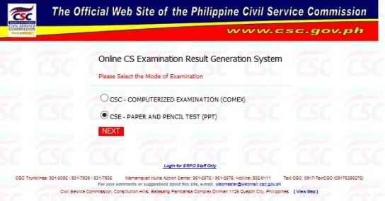 How to Check Civil Service Exam CSE PPT Results Online