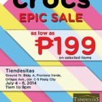 Crocs Epic Sale in Tiendesitas Pasig on July 2014