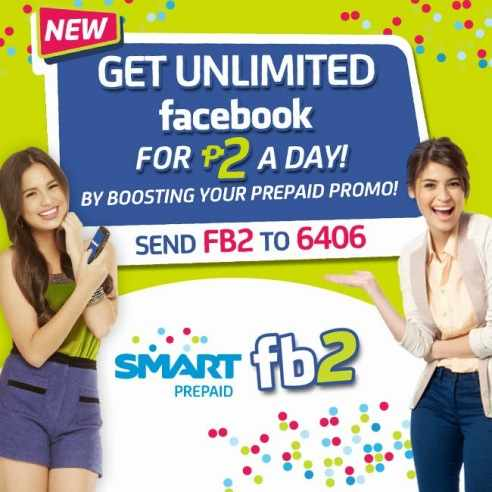 smart prepaid one day unli facebook for 2 pesos