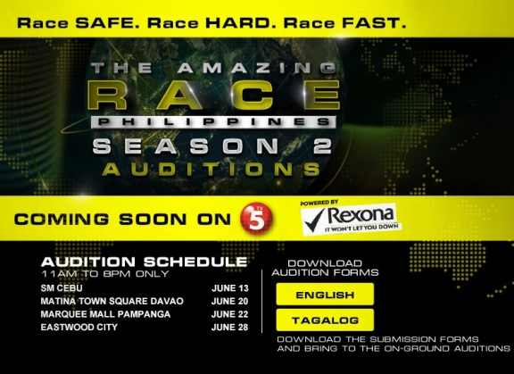 the amazing race philippines season 2 audition