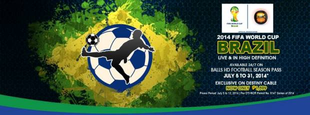 2014 FIFA World Cup live streaming in destiny cable