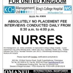Jobs for Filipino Nurses in United Kingdom, No Placement Fee