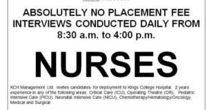 Jobs for Filipino Nurses in United Kingdom, No Placement Fee in 2016