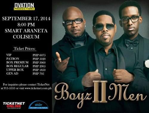 boyz II men live in Manila September 2014