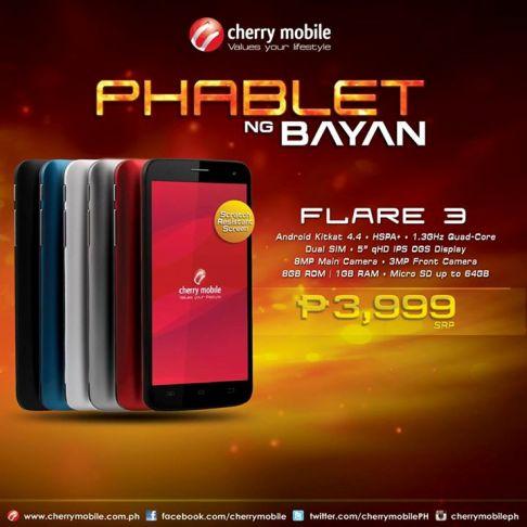 cherry mobile flare 3 phablet ng bayan price