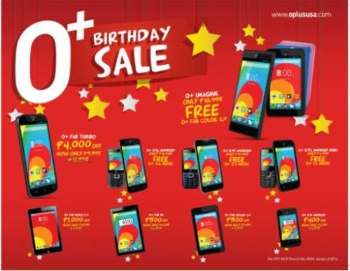 o+ plus phones birthday sale
