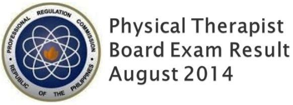 august 2014 physical therapist board exam results