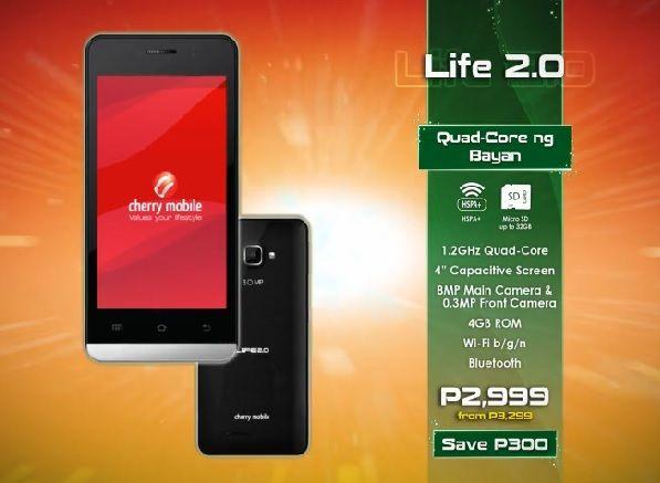 cherry mobile life 2.0 price