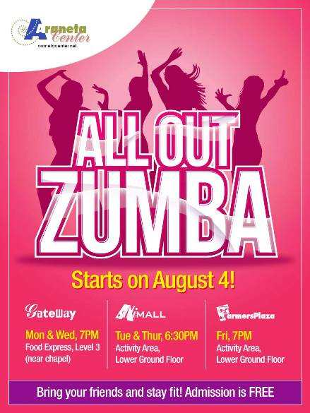 free zumba classes philippines