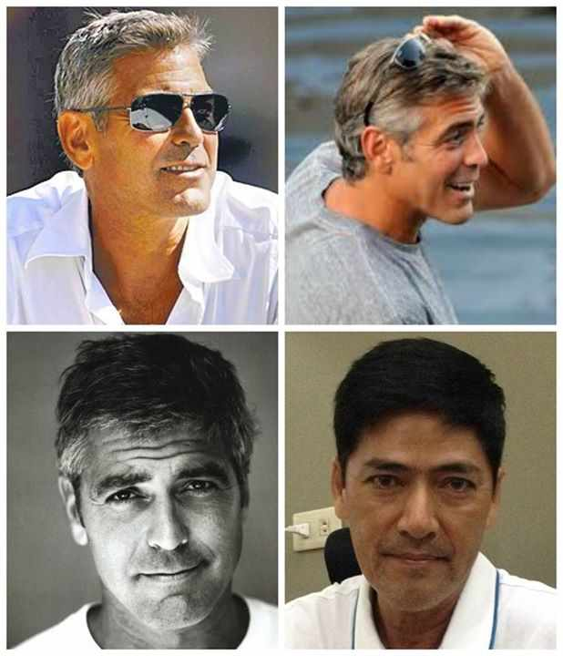 george clooney to vic sotto makeup transformation