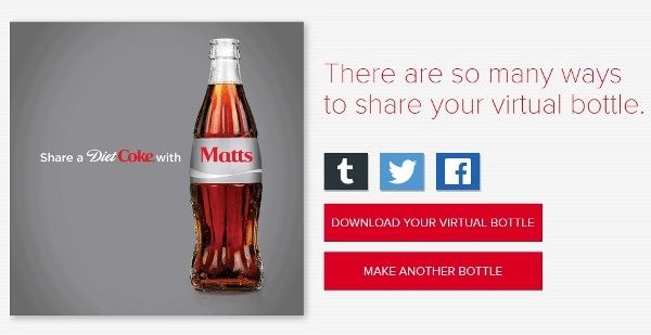 share a virtual coke bottle philippines step 3