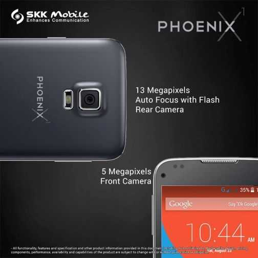skk phoenix x1 front and rear camera