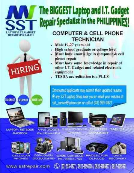 Computer And Cell Phone Technician Jobs At Sst Repair