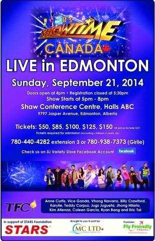 its showtime in edmonton canada