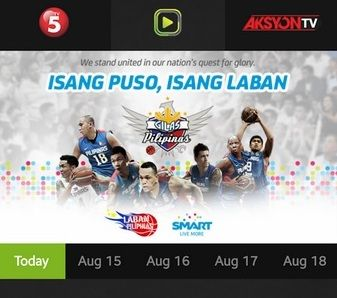 watch gilas pilipinas in 2014 asian games