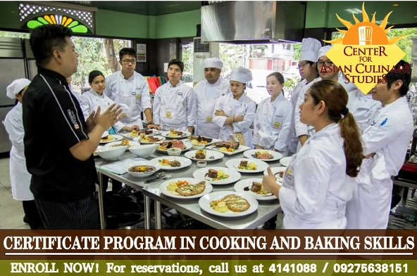 certificate program cooking baking skills