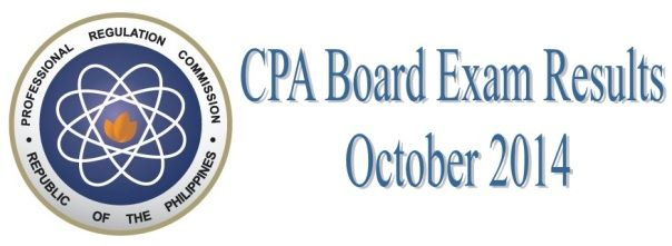 cpa licensure exam results october 2014