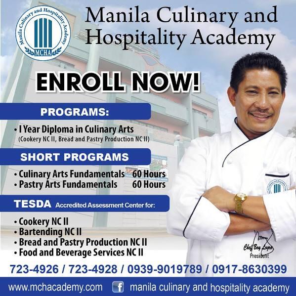 image credits to Manila Culinary and Hospitality Academy