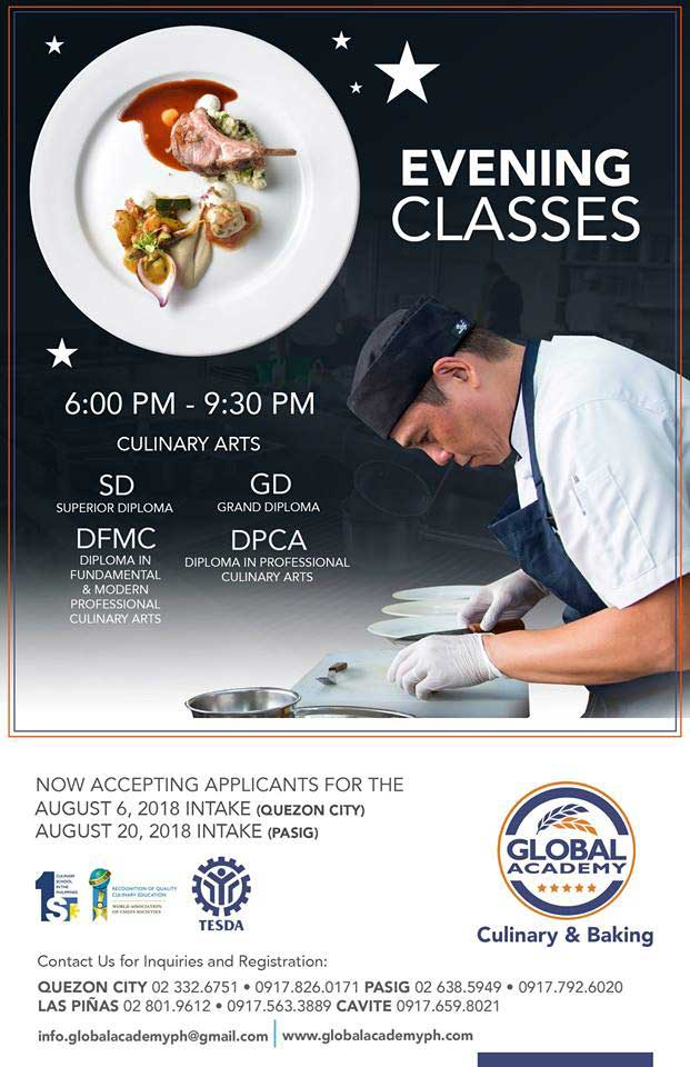 global academyculinary arts school philippines