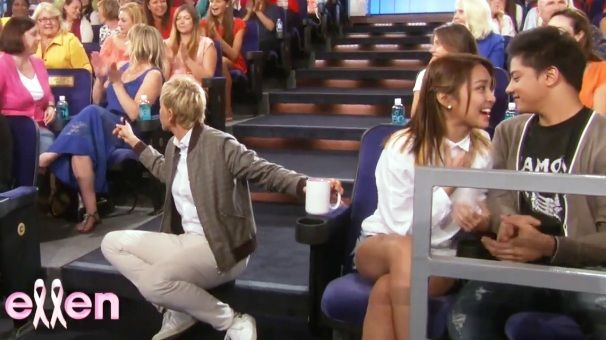 kathniel in the ellen degeneres show