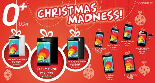 o+ christmas madness sale price and specs