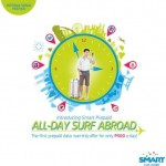 Smart offers All Day Surf Abroad Prepaid Data Roaming, P500/Day