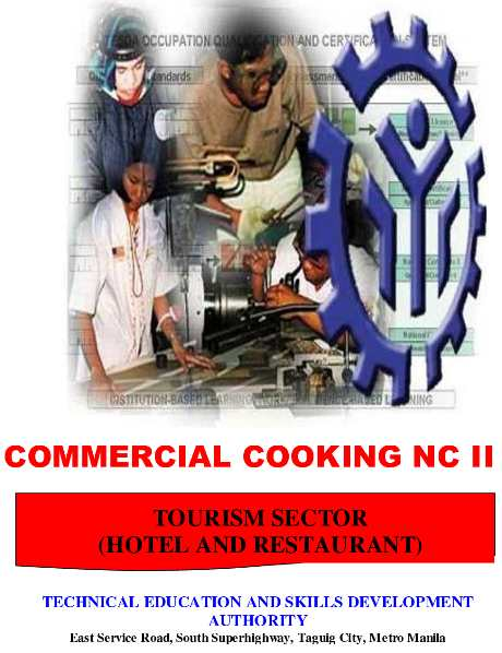 tesda commercial cooking