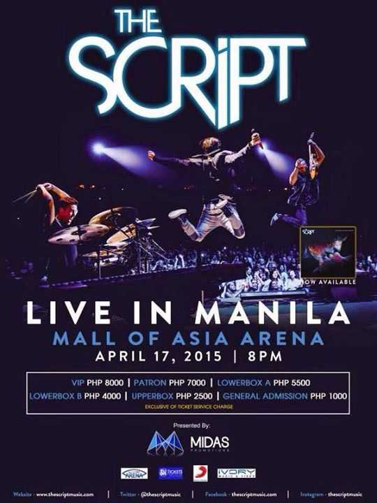 the script live in manila april 2015