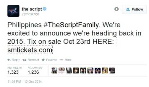 the script twitter account