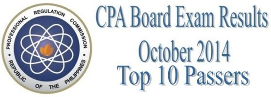 top 10 passers in cpa board exam october 2014