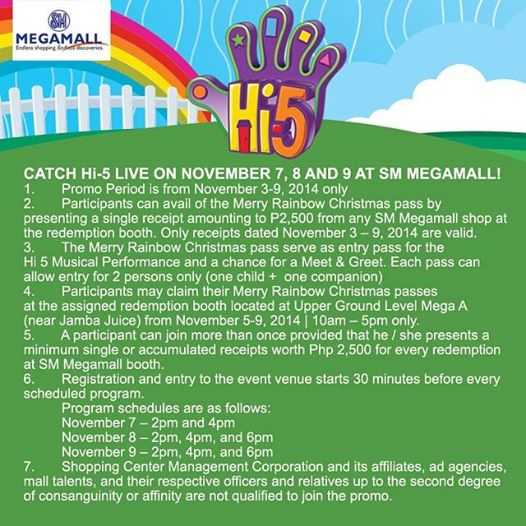 hi-5 live in SM Megamall November 2014