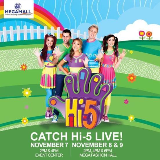 hi-5 live in SM Megamall Philippines
