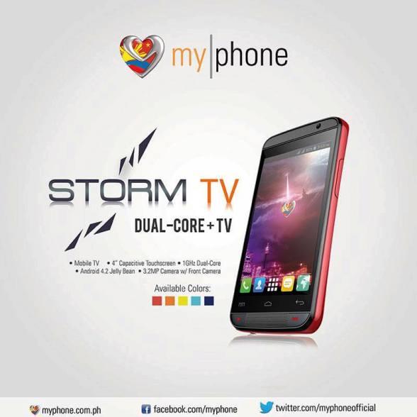 myphone storm tv