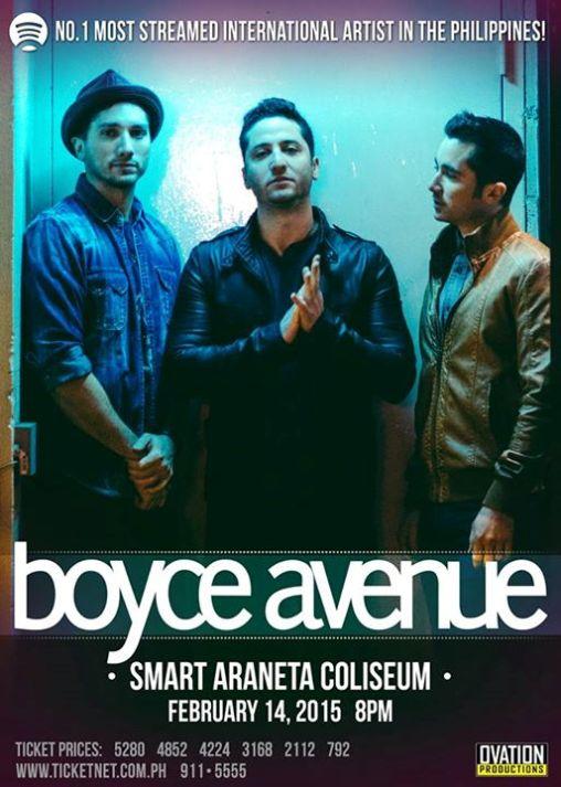 boyce avenue live manila 2015
