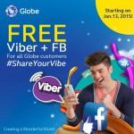 Globe Telecom Free Viber and Free FB Promo Starts January 13,2015
