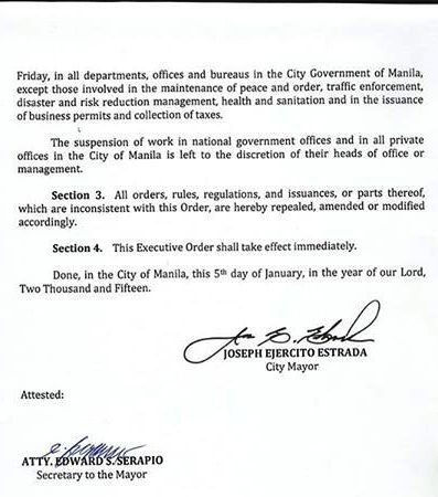no classes manila january 9 2015 part 2