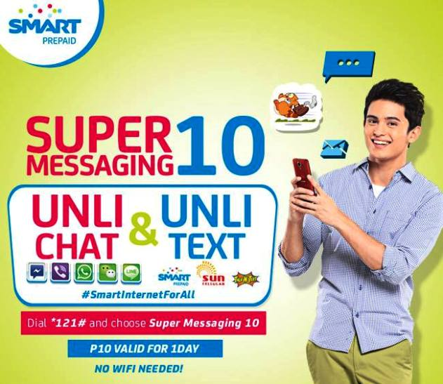 Smart Prepaid Super Messaging 10 Allows Unli Chat and Text