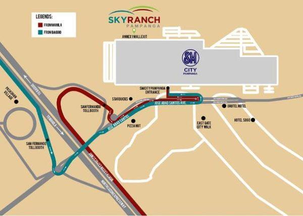 pampanga ranch location map