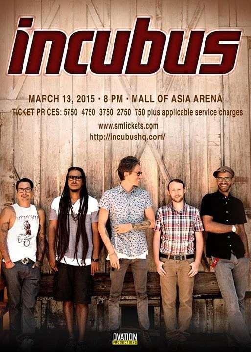 incubus manila concert march 2015