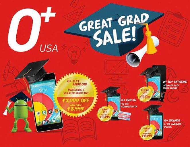 o plus phones graduation sale march 2015