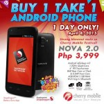 Cherry Mobile Nova 2.0 Buy 1 Take 1 for P3999, April 2015