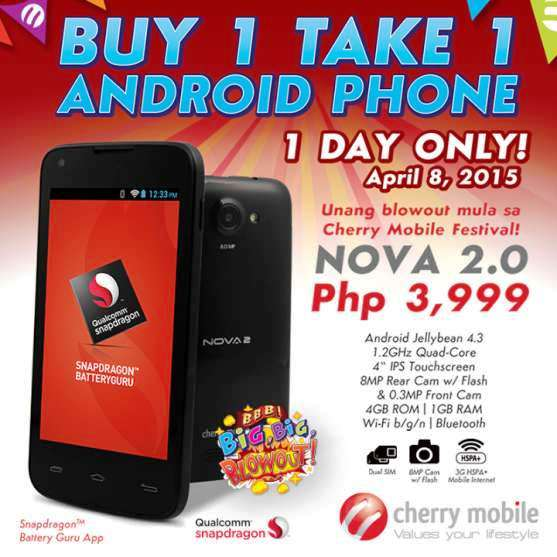 cherry mobile nova 2 buy 1 take 1