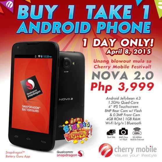 cherry mobile nova 2 buy 1 take 1
